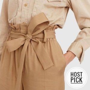 J. CREW | Point Sur Paper Bag Pants NEW
